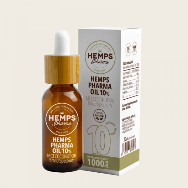ACEITE CBD HEMPS PHARMA OIL 10% 10ml.